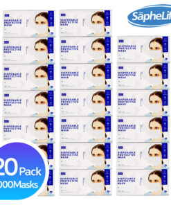 3-PLY Disposable Face Mask Protection with Filter Layer - Breathable, Ear Loop Mask (BLUE)) 20 pack