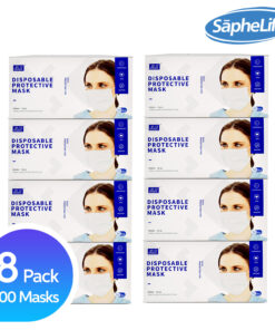 3 Ply Face Masks Disposable Face Mask Protection with Filter Layer - 3 PLY - Breathable, Ear Loop Mask (Blue)